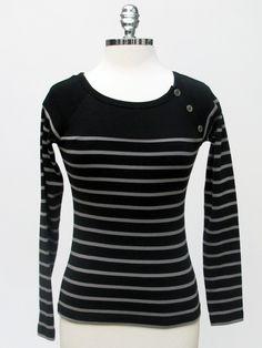 Azura Boutique - Le Phare De La Baleine 3 Button Striped Tee, $103.00 (http://www.shopazura.com/le-phare-de-la-baleine-3-button-striped-tee/)