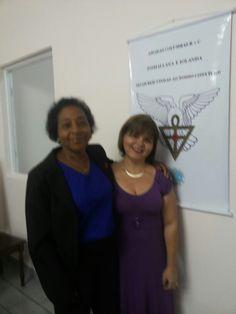Eu e Aldenice na Loja Rosacruz - Vila Velha.
