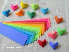 Katherina Krafts: Instructions on How to Fold Origami Hearts