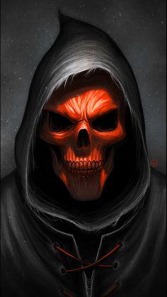 Deer Skull Tattoos, Skull Hand Tattoo, Sugar Skull Tattoos, Don't Fear The Reaper, Dark Reaper, Grim Reaper Art, Bulldog Tattoo, Skull Pictures, Arm Art