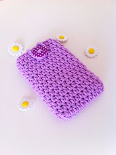 Purple phone cozy by Tickledpinksheep on Etsy, £8.00