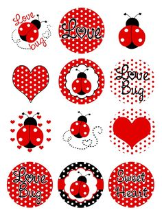 Ladybugs Polka Dots Edible Cupcake Toppers Decoration | eBay