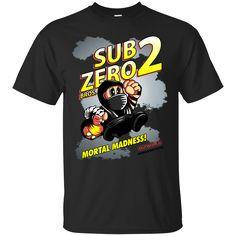 Super Mario Mortal Kombat Shirts Super Sub Zero Bros T-shirts Hoodies Sweatshirts