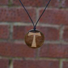Tau Cross-Pendant/Necklace Handmade Gift Birch Wood by TrendySnake