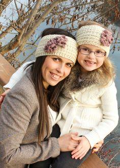 Mommy and mini Headband Knitted earwarmer 100% by LiliasDesign