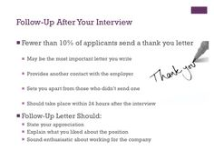 no thank you letter after interview