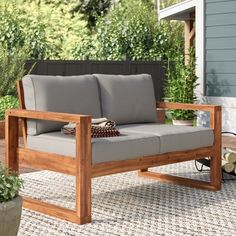 Purington Circular Patio Sectional with Cushions Rustic Outdoor Furniture, Pallet Garden Furniture, Home Furniture, Furniture Design, Antique Furniture, Modern Furniture, Furniture Layout, Furniture Makeover, Furniture Storage