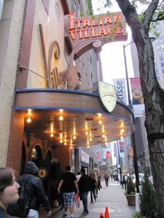 Italian Village, Monroe Street, Loop staple and city's oldest Italian restaurant (Chicago Pin of the Day, 4/16/2015).