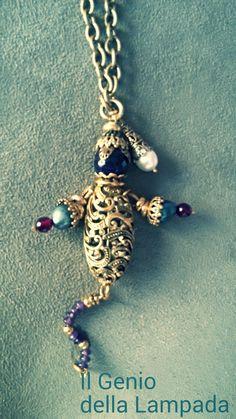 Il Genio della Lampada# collana bagno oro# shop on line #www.b-bill.it