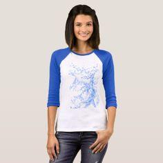 Water Blue White T-shirt
