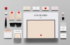 Logo and stationery with red foil print finish designed by Anagrama for high-end shopping boutique Cocolobo
