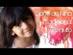 Corte de Cabello para Niña Tradicional y Corte de Flequillo, Copete o Tupe - YouTube