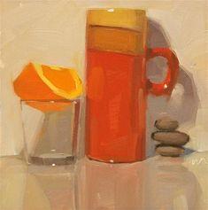 """A Balanced Breakfast - SOLD"" - Original Fine Art for Sale - © Carol Marine"