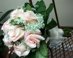 pink rose and queen anne's