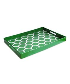 Take a look at this Green Garden Lattice Tray by Jay Import on #zulily today!
