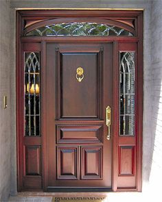 Entry Doors, Front Doors, Exterior Doors, and more at Doors by Decora Door Design, Wood Front Doors, Wooden Doors, Door Gate Design, Best Front Doors, House Main Door, Leaded Glass Door, Wood Doors Interior, Front Door Design