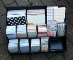 Så fik jeg også lavet mig en kasse til mine Project Life kort... Hvis du vil se hvordan kassen er lavet, kan du kigge forbi min blog: http://madsen-larsen.blogspot.dk/2014/01/project-life-opbevaringskasse.html by madsen-larsen