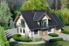 Flat House Design, Cottage Style Homes, Design Case, Home Fashion, Architecture, Luxury Homes, My House, House Plans, Shed
