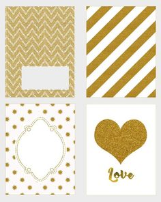Free Printable Gold Journal Cards {set 2}