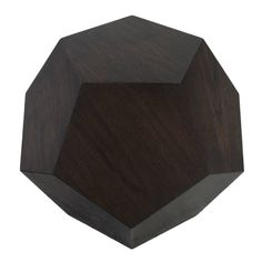 The Dodecahedron Side Table in Mahogany by Thomas Hayes Studio