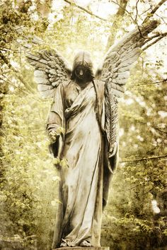 stock photo : vintage style picture of an ancient angel statue Cemetery Angels, Cemetery Statues, Cemetery Art, Angels Among Us, Angels And Demons, Old Cemeteries, Graveyards, I Believe In Angels, Angeles