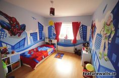 Image detail for -Modern Design With Hand Painted Kids Murals for Bedroom Spiderman Hand ...