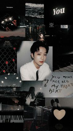 Aesthetic Iphone Wallpaper, Aesthetic Wallpapers, Tumblr Wallpaper, Wallpaper Backgrounds, Seventeen Wallpapers, Guan Lin, Lai Guanlin, Aesthetic Collage, K Idol