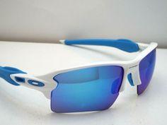 257de21ea918f Authentic Oakley OO9188-02 Flak 2.0 XL White Sapphire Iridium Sunglasses   195  fashion  clothing  shoes  accessories  unisexclothingshoesaccs ...