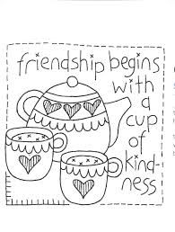 friendship begins with a cup of kindness