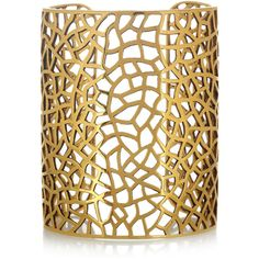 Zadig & Voltaire By Gaia Repossi 18-karat gold-plated cuff ($672) ❤ liked on Polyvore