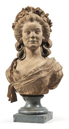 A FRENCH, CIRCA 1785-95, TERRACOTTA BUST OF A YOUNG GIRL, ATTRIBUTED TO CLAUDE-ANDRÉ DESEINE