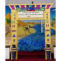 Egyptian Arch-World Thinking Day Ancient Egypt Display, Egypt Decorations, Egyptian Themed Party, Egyptian Crafts, World Thinking Day, School Displays, Vacation Bible School, Ancient Civilizations, Party Themes