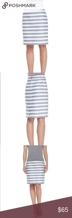 Kate Spade Maria Striped Pencil Skirt Beautiful Kate Spade Maria Striped Pencil Skirt. New without tags. Worn once for a few hours. Perfect for work or play. Great staple for anyone's wardrobe! Back zipper, no pockets. Comes from smoke free clean home. kate spade Skirts Pencil