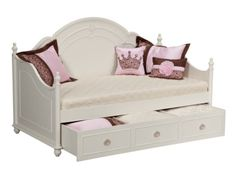 Bouquet White Daybed with Trundle - Value City Furniture