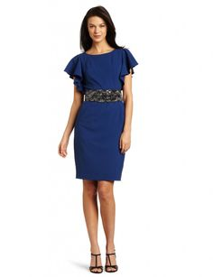 CK Belted Dress in cool blue :)