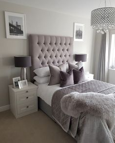 This is a Bedroom Interior Design Ideas. House is a private bedroom and is usually hidden from our guests. However, it is important to her, not only for comfort but also style. Much of our bedroom … Glam Bedroom, Teen Bedroom, Bedroom Inspo, Home Decor Bedroom, Bedroom Furniture, Girl Bedrooms, Silver Bedroom, Chic Bedroom Ideas, Adult Bedroom Ideas