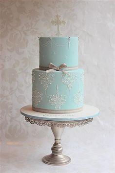 Poss Christmas christening cake for G? Gorgeous Cakes, Pretty Cakes, Amazing Cakes, Fondant Cakes, Cupcake Cakes, Confirmation Cakes, Christening Cakes, Religious Cakes, First Communion Cakes