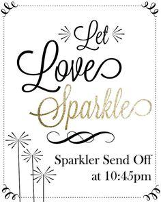 Sparkler Send Off Wedding Chalkboard by LCODesignandPaperie, $10.00