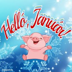 Helló, Január! Share Pictures, Animated Gifs, Hello December, Winter Images, Smiley, Happy New Year, Techno, About Me Blog, Neon Signs