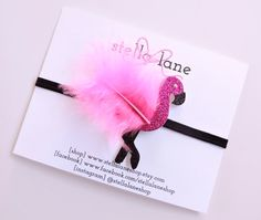Hey, I found this really awesome Etsy listing at https://www.etsy.com/listing/229292802/pink-flamingo-glitter-sparkle-headband