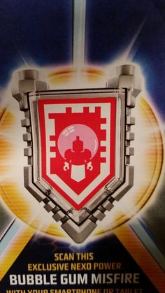 LEGO Nexo Knights shield *New Exclusive* Bubble Gum Misfire