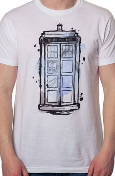 Watercolor Tardis Shirt: Doctor Who Mens T-shirt