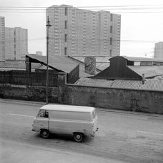 Sighthill (Fountainwell Flats) from 360 Keppochhill Road (Demolished December - 1968 Council Estate, New Topographics, Sense Of Place, Slums, Destruction, Glasgow, Countryside, The Past, Black And White