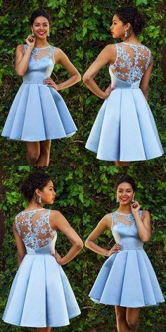 8ee6cd8438f Sky Blue Homecoming Dresses