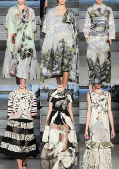 Antonio Marras S/S 2014-Botanical Engravings – Illustrative Landscapes – Border Prints – Distorted Portraits – Supersize Cut-out Florals – Loose and Sketchy Drawing...