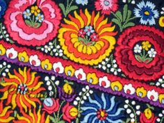 Embroidery Hungarian Magyar Matyo Folk Art by closencounters, $35.00