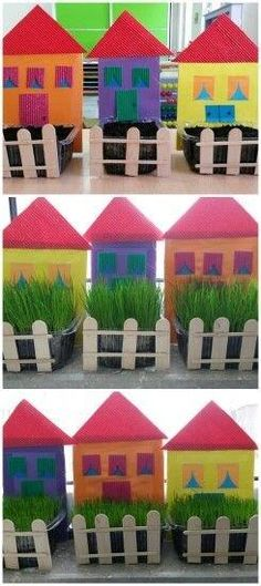 New garden crafts preschool plants ideas - Vine Ideas Kids Crafts, Daycare Crafts, Hobbies And Crafts, Easter Crafts, Diy And Crafts, Spring Art, Spring Crafts, Art N Craft, Garden Crafts