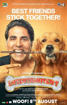 "This Is a poster of the movie ""Entertainment"" because it manages to entertain people."