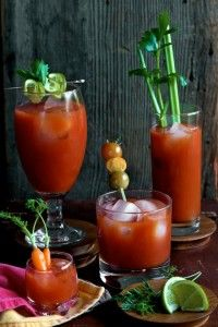 So this year she has another idea, she's going to set up a Bloody Mary station..she has an awesome recipe for a Bloody Mary Punch.