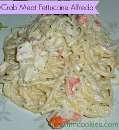 Crab Meat Fettuccine Alfredo- Homemade, easy, and so delicious